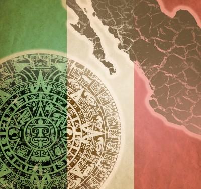 Background With Mayan Calendar
